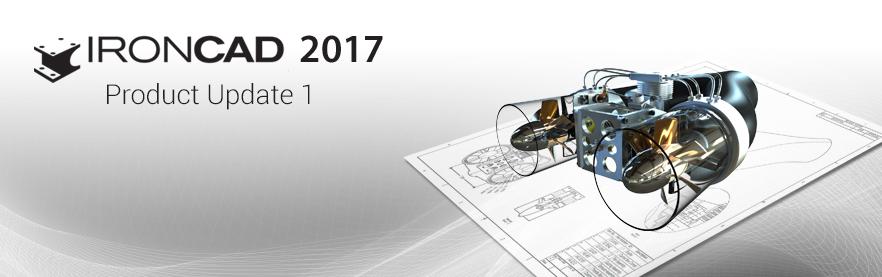 Aktualizacja Product Update 1 dla IRONCAD 2017