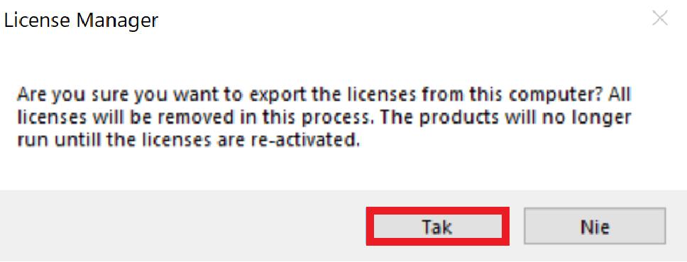 2 Eksport Licencji Obszar Roboczy 1