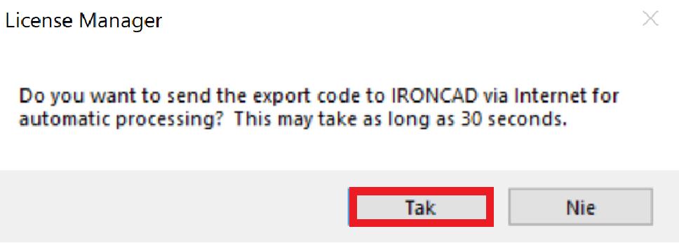 4. Eksport Licencji Obszar Roboczy 1