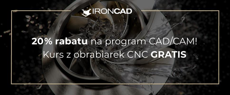 20% rabatu na program CAD/CAM! Kurs z obrabiarek CNC gratis!